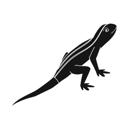Isolated object of lizard and tail icon. Collection of lizard and iguana stock symbol for web.