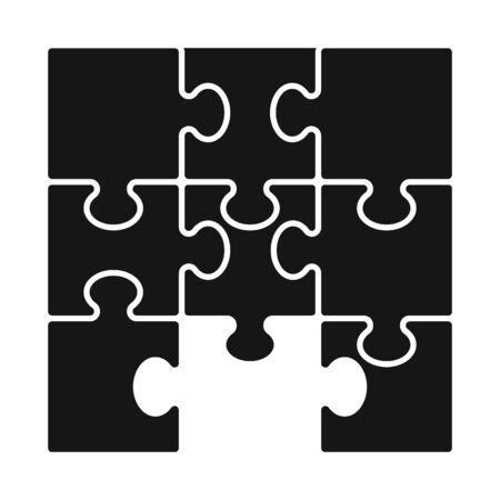 Vector design of game and jigsaw. Set of game and piece vector icon for stock.
