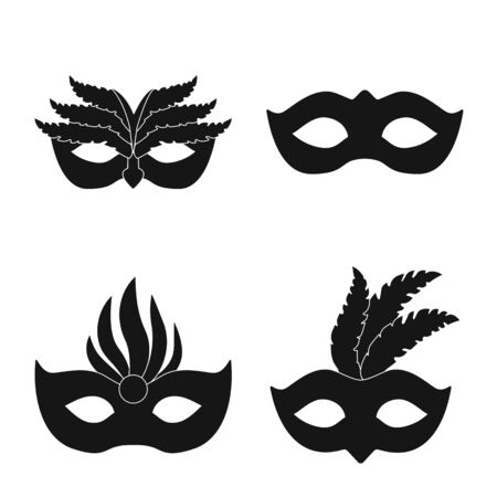 Vector illustration of luxury and celebration icon. Collection of luxury and hide vector icon for stock.