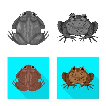 Vector illustration of wildlife and bog logo. Collection of wildlife and reptile stock vector illustration.