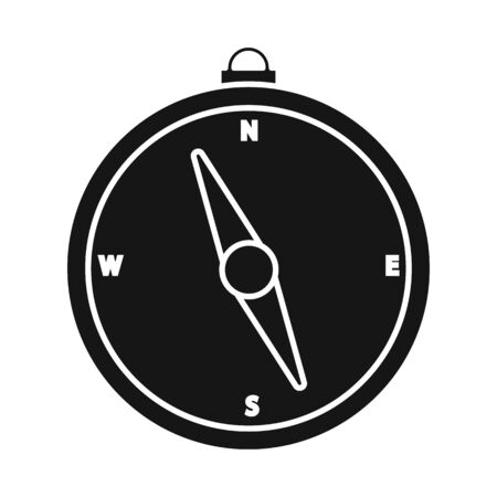 Isolated object of compass and travel icon. Collection of compass and orientation stock symbol for web.