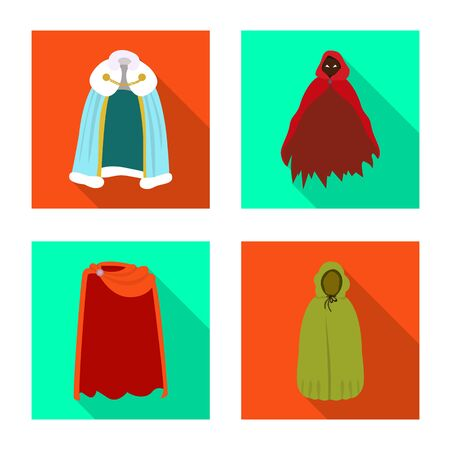 Vector design of material and clothing icon. Set of material and garment stock vector illustration.