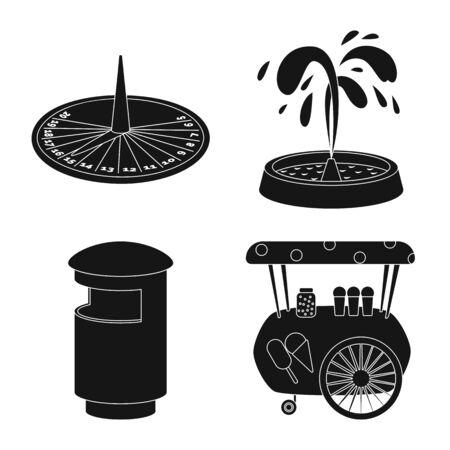Objet isolé du symbole public et détente. Collection d'illustration vectorielle stock public et parc.