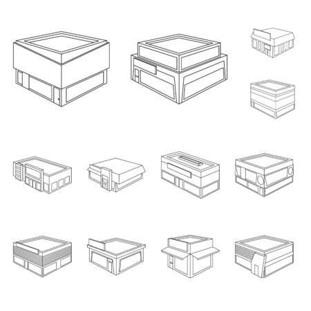 Isolated object of business and supermarket symbol. Collection of business and showcase vector icon for stock.