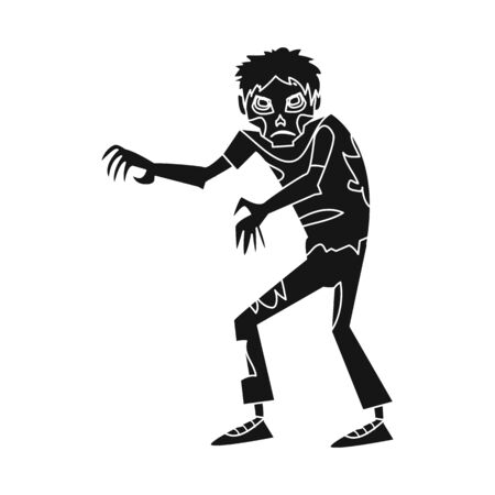 Vector design of zombie and man. Set of zombie and monster stock symbol for web.