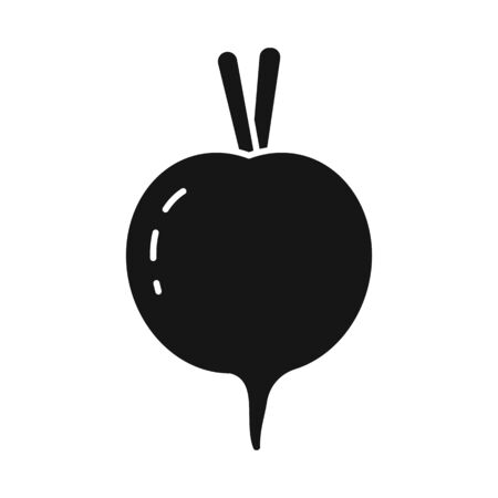 Isolated object of beet and beetroot. Set of beet and diet vector icon for stock. Illusztráció