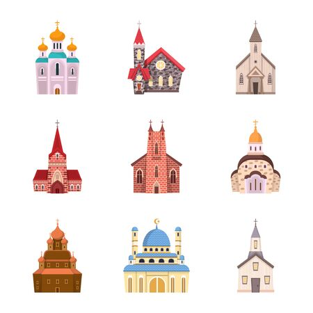 bitmap illustration of religion and building logo. Set of religion and faith bitmap icon for stock. Stock Photo