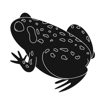 bitmap design of toad and tropical symbol. Collection of toad and ecology stock bitmap illustration.