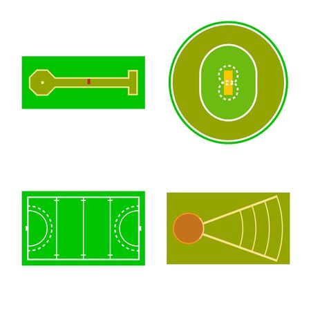 Vector design of field and arena icon. Collection of field and sport stock symbol for web. Standard-Bild - 127544713