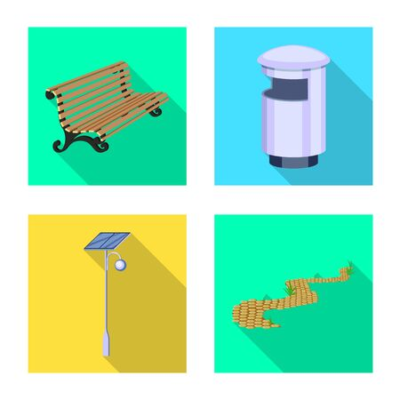 Vector design of urban and street. Set of urban and relaxation vector icon for stock. Vecteurs