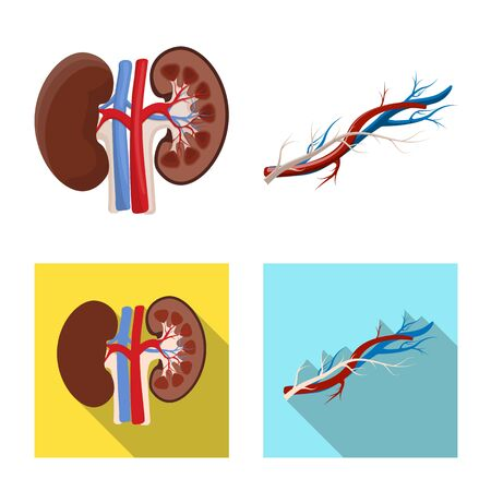 Vector design of body and human icon. Collection of body and medical vector icon for stock. Stock Illustratie