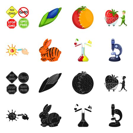 Vector illustration of test and synthetic sign. Collection of test and laboratory stock symbol for web.