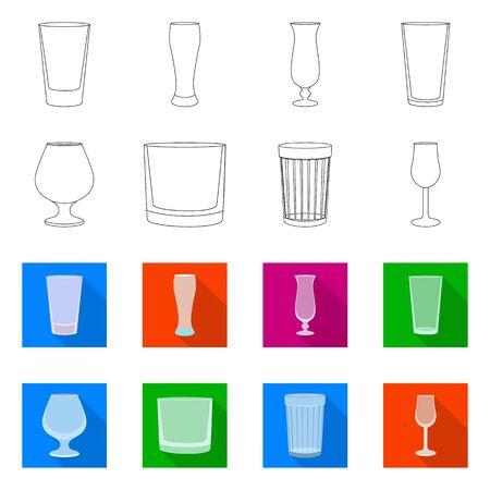 Vector illustration of form and celebration sign. Set of form and volume stock vector illustration.