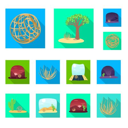 Vector design of landscape and nature icon. Collection of landscape and environment vector icon for stock.