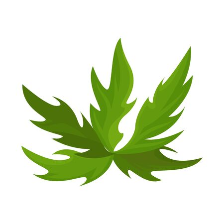 Vector illustration of bush and green sign. Set of bush and plant stock vector illustration. Stockfoto - 128474054