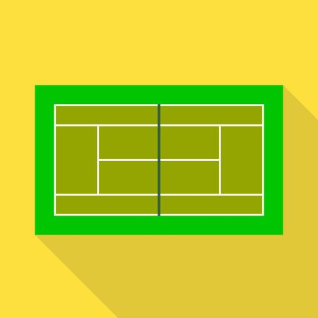 Vector design of tennis and stadium symbol. Set of tennis and match stock symbol for web.