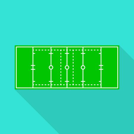 Vector design of rugby and stadium sign. Set of rugby and goal stock symbol for web.