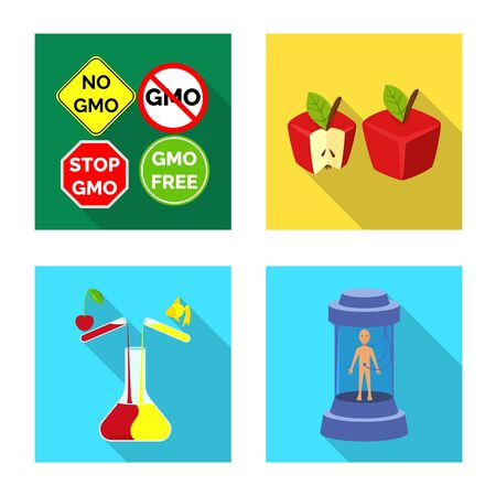 Vector design of test and synthetic symbol. Collection of test and laboratory vector icon for stock.