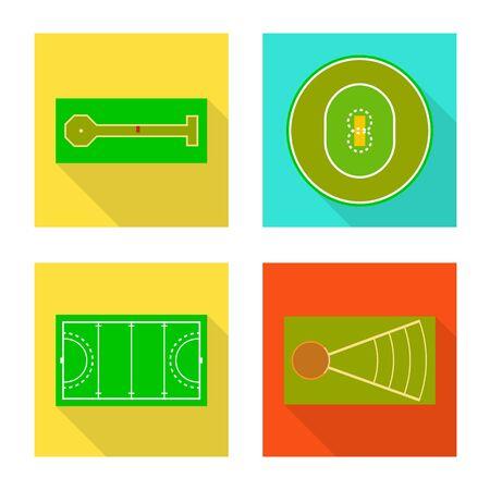 Vector design of scheme and construction logo. Collection of scheme and bullring vector icon for stock.