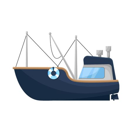 Isolated object of fishing and trawler sign. Collection of fishing and fishery vector icon for stock.