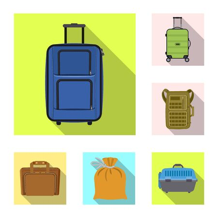 bitmap illustration of suitcase and baggage sign. Collection of suitcase and journey bitmap icon for stock.