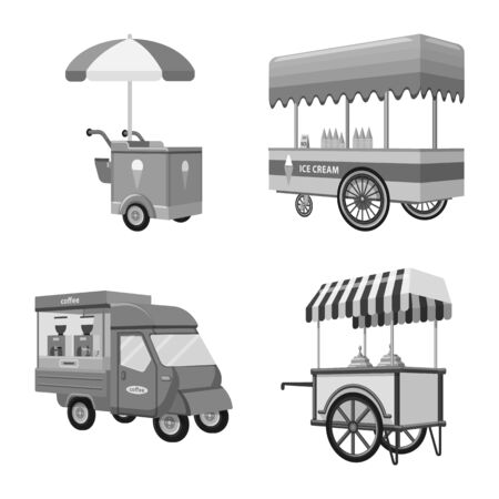 bitmap illustration of trade and food sign. Collection of trade and tent stock symbol for web.