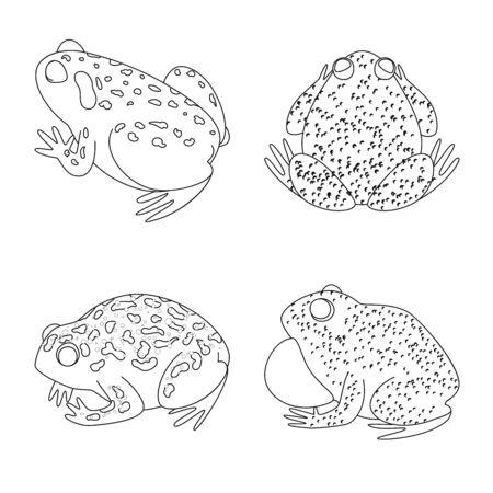 bitmap illustration of amphibian and animal  . Collection of amphibian and nature stock bitmap illustration. Imagens