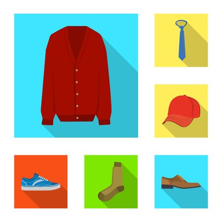 Isolated object of man and clothing icon. Set of man and wear bitmap icon for stock. 版權商用圖片