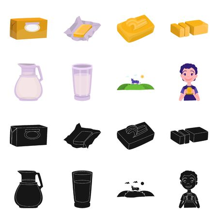 bitmap design of creamy and product icon. Collection of creamy and farm bitmap icon for stock.