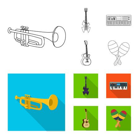 bitmap illustration of music and tune symbol. Set of music and tool bitmap icon for stock. Imagens