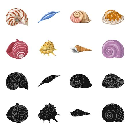 bitmap design of animal and decoration symbol. Collection of animal and ocean bitmap icon for stock.