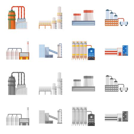 bitmap design of production and structure icon. Set of production and technology stock symbol for web.