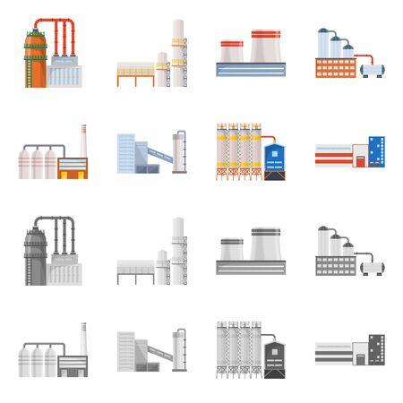 diseño de mapa de bits del icono de producción y estructura. Conjunto de símbolo de stock de producción y tecnología para web.