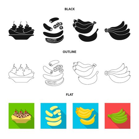 Isolated object of natural and vegetarian   Set of natural and eating stock bitmap illustration.