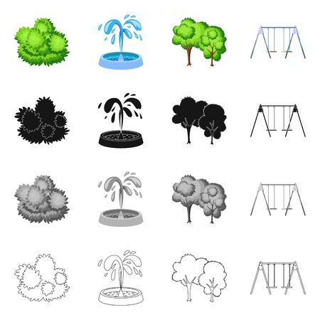 Isolated object of urban and street icon. Collection of urban and relaxation bitmap icon for stock. Stockfoto - 128485577