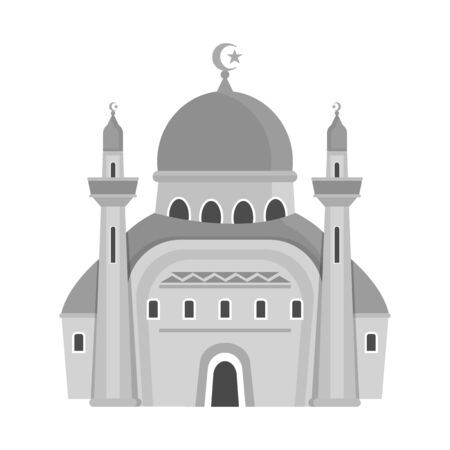 bitmap illustration of mosque and church icon. Set of mosque and muslim bitmap icon for stock.