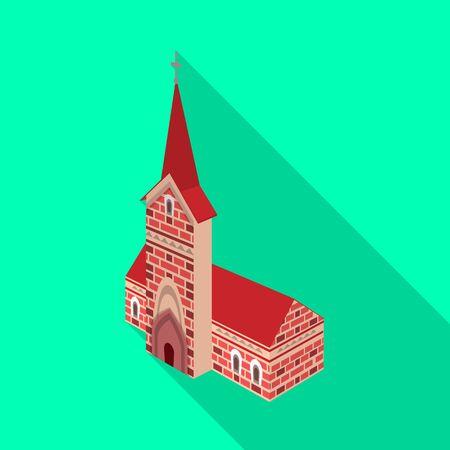 bitmap illustration of church and catholic symbol. Set of church and construction bitmap icon for stock. Stock Photo