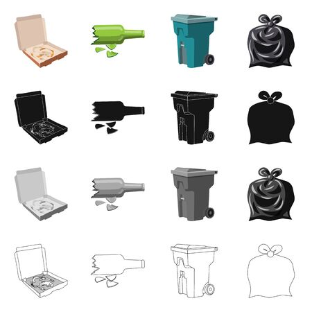Isolated object of dump and sort Collection of dump and junk stock symbol for web.