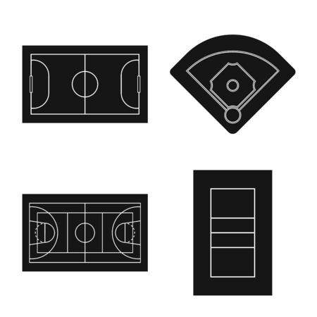 Vector illustration of strategy and bullring icon. Collection of strategy and arena stock vector illustration. Illustration