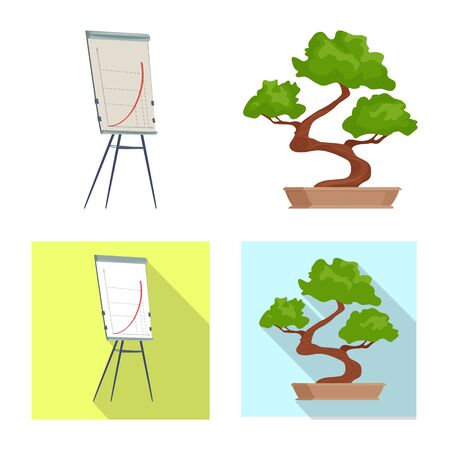 Vector design of furniture and work . Set of furniture and home vector icon for stock. Stockfoto - 128475719