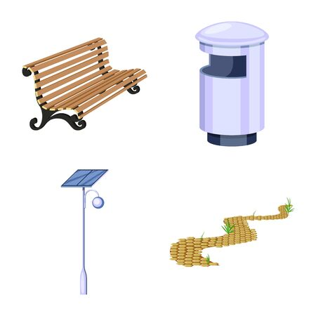 Isolated object of landscape and park sign. Collection of landscape and nature vector icon for stock.