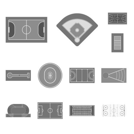 Vector illustration of grass and game icon. Collection of grass and construction stock vector illustration. Ilustração