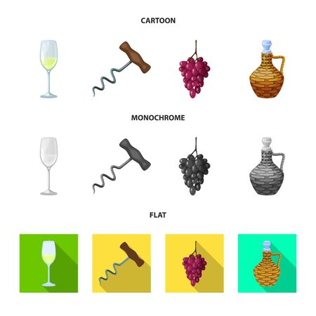 Isolated object of farm and vineyard  . Collection of farm and product stock symbol for web. Illustration