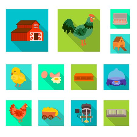 Isolated object of countryside and plant symbol. Collection of countryside and farming stock symbol for web.