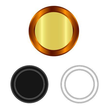 Vector illustration of emblem and badge  . Set of emblem and sticker vector icon for stock. Stock Illustratie