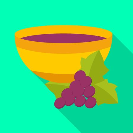 Isolated object of wine and vase icon. Collection of wine and history stock symbol for web.