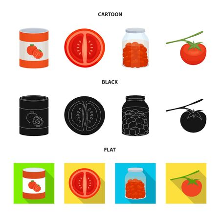 Vector design of vegetable and delicious sign. Collection of vegetable and natural stock symbol for web.
