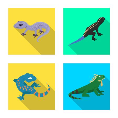 Isolated object of tail and fauna symbol. Collection of tail and environment vector icon for stock.