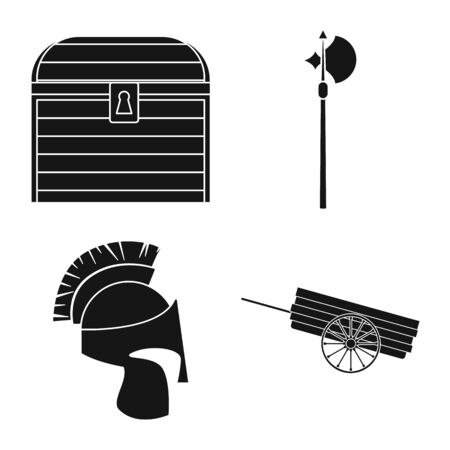 Isolated object of traditional and renaissance symbol. Collection of traditional and history vector icon for stock.