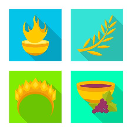 Vector design of deity and antique icon. Collection of deity and myths vector icon for stock.